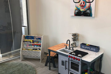 Kids Play Room at Iconic Eyecare in Edmonton, AB